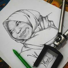 Pen art sketching