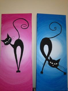 Cats on canvas Clock, Canvas, Wall, Home Decor, Watch, Tela, Decoration Home, Room Decor, Clocks