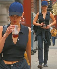 Bella Hadid Outfits, Bella Hadid Style, Celebrity Outfits, Celebrity Style, Aesthetic Clothes, Aesthetic Fashion, Cute Casual Outfits, Summer Outfits, Jeans Boyfriend