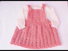 Falda con peto fácil de tejer a crochet especial otoño-primavera ( vuelta al cole) - YouTube