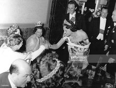 Olga in the daisy tiara, far left, with Princess Kyra of Prussia in the clover leaf coronet. image by getty and gamma keystone Princess Alexandra, Princess Beatrice, Princess Victoria, Queen Victoria, King Of Italy, Thurn Und Taxis, Royal Tiaras, Diamond Tiara, Royal House