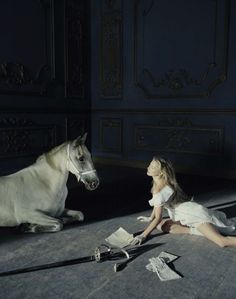 Ethereal Photo Shoot (Vogue Italia December 2015 | Kate Moss | Tim Walker //Canvas and Stone