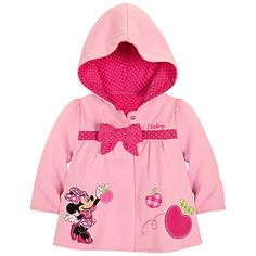 Personalizable Hooded Minnie Mouse Jacket for Baby Girls | Hoodies & Sweatshirts | Disney Store