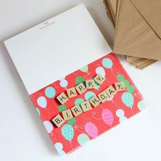 Shared some behind the scenes studio stuff on the blog today with another post in the Life Lately series. I also talk about why I have decided to do less for the business. Would love to hear your thoughts! Read more at http://ift.tt/1DZTHxJ OH AND ONE MORE THING - the Happy Birthday cards have been restocked in the shop! #claireabellemakes