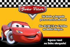 Convite digital personalizado Carros da Disney 013