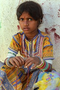 Girl from Gujarat, India