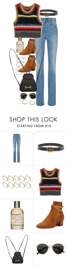 """Untitled #10753"" by nikka-phillips ❤ liked on Polyvore featuring Fiorucci, Gucci, ASOS, Le Labo, Yves Saint Laurent, H&M and Maison Margiela"