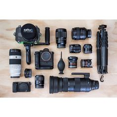 """It's taken me a year of buying, selling, trading and begging but I've now fully transitioned from shooting Canon DSLR to 100% Sony Mirrorless. I've been getting a lot of questions from folks interested in the Sony Mirrorless cameras so I thought I'd do an """"Ask me anything Sony"""" post. Hit me up what you'd like to know and I'll answer to the best of my abilities. --------------------------------- Here's what's on my current kit from left-right, top-bottom… kinda.  Salty A6300 Surf Housing Sony…"""