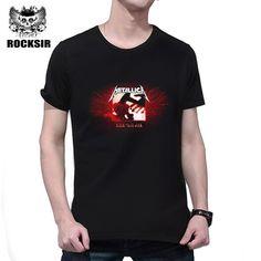 Rocksir newest hot sale band series man's t-shirt METALLICA kill 'em all print t shirt men high quality summer short streetwear