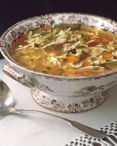 40 Soups to Get You Through the Winter | Martha Stewart Living - Make some traditional chicken noodle soup for dinner tonight.