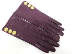 #eLADY global accepts returns within 14 days, no matter what the reason! #COACH Gloves Leather Purple 6.5 Ladies (UJ103999)