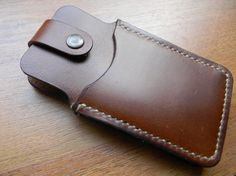 Leather Phone Case Wallet Hand Sewn Case by JFHandcraftedLeather