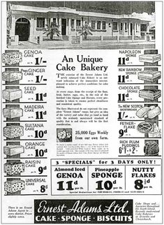 This full-page newspaper advertisement announces the opening of the new enlarged Christchurch bakery of Ernest Adams in 1935. The small print announces that the bakery manages its own poultry farm, producing 25,000 eggs each week.