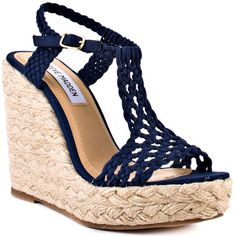 navy wedges...want these for summer!!