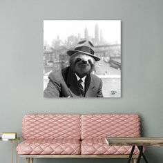 Discover «Sloth in New York», Exclusive Edition Acrylic Glass Print by Luigi Tarini - From $85 - Curioos