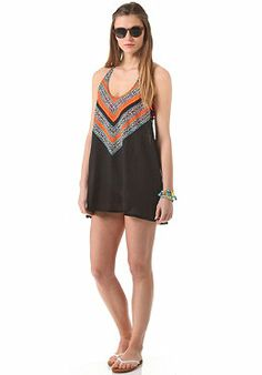 RIP CURL - Womens Gypsy Queen Cover Up Dress black