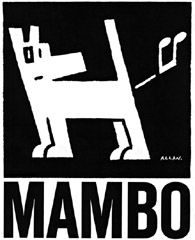 The famous Mambo dog. Many Mambo designs are irreverent – some would say offensive. Courtesy Mambo Graphics Pty Ltd.