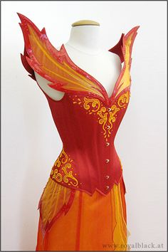 Lady of Fire - Costume Couture - Corset/Dress