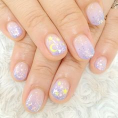 Try some of these designs and give your nails a quick makeover, gallery of unique nail art designs for any season. The best images and creative ideas for your nails. Kawaii Nail Art, Cute Nail Art, Cute Nails, My Nails, Fall Nails, Uñas Sailor Moon, Sailor Moon Nails, Sailor Moon Makeup, Sailor Moon Wedding