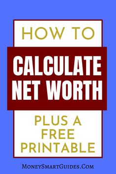 Make Money Today, Make Money Fast, Get Out Of Debt, Net Worth, Calculator, Wealth, Free Printables, How To Become, Track