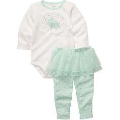 2-Piece Bodysuit Tutu Pant Set Carter's (24 AUD) ❤ liked on Polyvore featuring kids