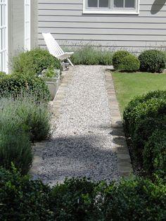 Brick and gravel walk