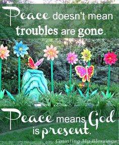 God promises peace in His presence. Here is a collection of 25 verses that will bless you with the promise of peace.