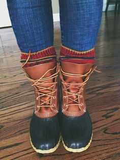 I think I'll need some Bean boots this winter...