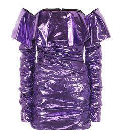Attico Metallic Minidress In Purple Cl Fashion, Kpop Fashion Outfits, Stage Outfits, Mode Outfits, Look Fashion, Luxury Fashion, Fashion Dresses, Womens Fashion, Fashion Design