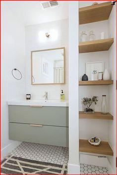 Upstairs Bathrooms, Small Bathroom, Master Bathroom, Ikea Hack Bathroom, Ikea Bathroom Vanity, Remodled Bathrooms, Modern White Bathroom, Black White Bathrooms, Bathroom Tub Shower
