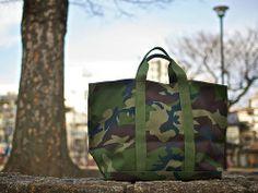 LL Bean Camo Tote Bag