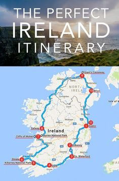 This is the Perfect Ireland Itinerary for the First Time Visitor Who Wants to See as Much of the Island as Possible. This Road Trip Will Take you All Around the Island to the Most Spectacular Sites in Ireland. Travel The Perfect Ireland Itinerary Places To Travel, Places To See, Vacation Places, Vacation Quotes, Reisen In Europa, Ireland Vacation, Traveling To Ireland, Vacation Travel, Backpacking Ireland