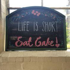 My new mantra? #cake #quote #typography