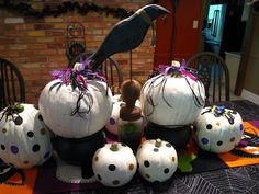 painted pumpkins! and other cute decorations