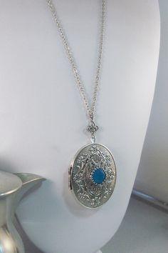 Seabreeze Locket médaillon Antique argent par ValleyGirlDesigns