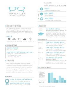 Resume by Mikki Miller, via Behance Number Graphic, Cv Cover Letter, Print Design, Graphic Design, Nice To Meet, Self Improvement, Resume, Career, Behance