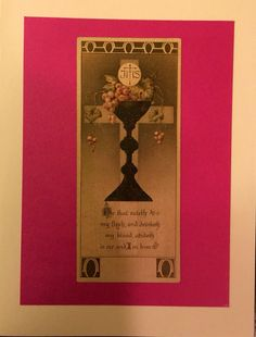 Communion Greeting Card by HandCutGreetings on Etsy https://www.etsy.com/listing/247884137/communion-greeting-card