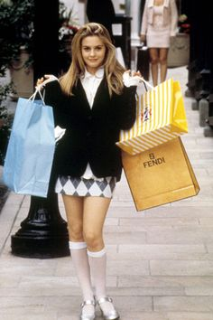 clueless film fashion - The G. Spring 2014 collection pays tribute to Clueless film fashions that will have you channeling your inner Cher Horowitz. Cher Horowitz, 1990 Style, Estilo Grunge, Look Retro, Retro Style, Looks Street Style, Grunge Look, Grunge Style, 90s Grunge