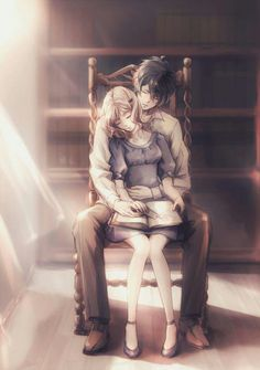 anime couple   anime romantic   art   ayato   boy and girl   couple   cute…