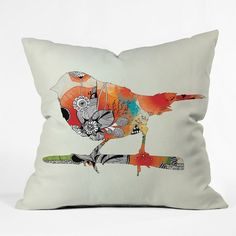 DENY Designs Iveta Abolina Little Bird Throw Pillow