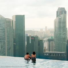Infinity pool in Singapore hotel