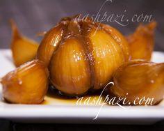 #Happy #National #Garlic Day #NationalGarlicDay #Pickled #PickledGarlic #Recipe https://www.aashpazi.com/pickled-garlic