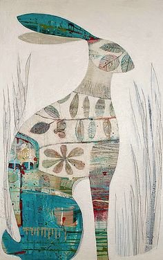 The Little Cloth Rabbit: Artist Interview with Tiffany Calder Kingston Art And Illustration, Illustrations, Rabbit Illustration, Lapin Art, Rabbit Art, Bunny Art, Inspiration Art, Art Design, Medium Art