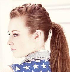 mohawk braid into ponytail
