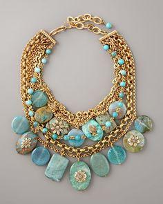 Stephen Dweck Turquoise Pebble Necklace on shopstyle.com.au