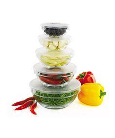 Glass Bowls Storage with Lids