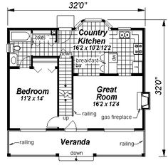 First Floor Plan of Cape Cod   House Plan 58520