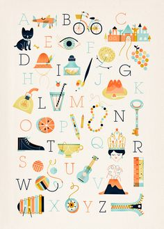 linero alphabet poster Beautiful Alphabets.