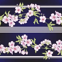 Illustration of Seamless pattern with Japanese blossom sakura. Vector stock illu vector art, clipart and stock vectors. Vector Stock, Vector Art, Japanese Blossom, Document Sign, Blossom Tattoo, Japanese Patterns, Banner Printing, Image Photography, Graphic Art