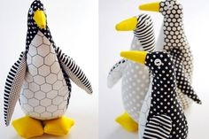 Cute toy penquins to sew  :) DIY